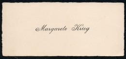 C6512 - Margarete Krieg - Visitenkarte - Visitenkarten