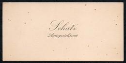 C6513 - Schatz Amtsgerichtsrat - Visitenkarte - Visitenkarten