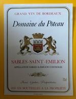 10584 - Domaine Du Pôteau Sables-Saint-Emilion - Bordeaux