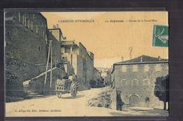 CPA 07 - JOYEUSE - Entrée De La Grand'Rue - TB PLAN Rue CENTRE VILLAGE TB PLAN ATTELAGE - Joyeuse