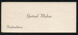 C6516 - Gertrud Mylius - Niederschlema - Visitenkarte - Visitenkarten