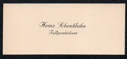 C6517 - Heinz Schenkluhn - Zollpraktikant - Visitenkarte - Cartes De Visite