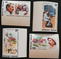 TOGO 1975 Dr. Albert Schweitzer  (1875-1965 ) IMPERF. - Togo (1960-...)