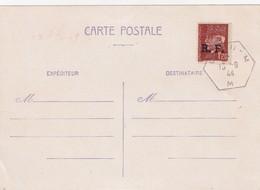 . CARTE POSTALE NEUVE. PETAIN 1,20. RF. LYON 13-9-1944 - Liberation