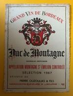 10590 - Duc De Montagne 1967 Montagne Saint-Emilion - Bordeaux