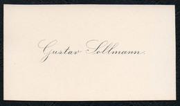 C6519 - Gustav Sollmann - Visitenkarte - Visitenkarten