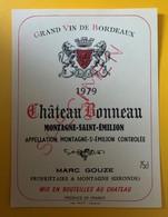 10591 - Château Bonneau 1979 Montagne Saint-Emilion Spècimen - Bordeaux