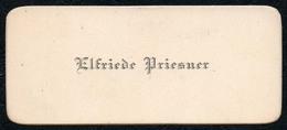 C6521 - Elfriede Priesner - Visitenkarte - Visitenkarten