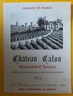 10594 -  Château Calon 1975 Montagne Saint-Emilion - Bordeaux