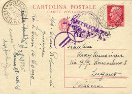 ITALIA-INTERO POSTALE VIAGGIATO COME DA FOTO - 1900-44 Vittorio Emanuele III