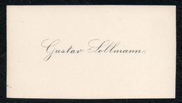 C6522 - Gustav Sollmann - Visitenkarte - Cartes De Visite