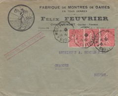 1928: Charouemont: Uhrenfabrik Für Damen, Montres De Dames To Granges/CH - France