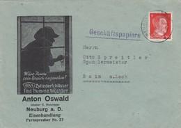 1941: Neuburg A. D., Eisenhandlulng, Einbrecher, Sicherheitsschloss Nach Rain/L - Deutschland