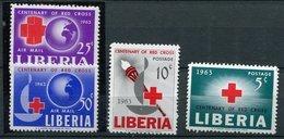 Libéria N° 142/143- 389/390 - Croix Rouge - Liberia