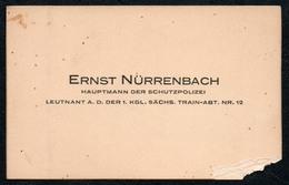 C6523 - Ernst Nürrenbach - Hauptmann Der Schutzpolizei - Visitenkarte - Visitenkarten