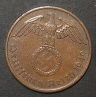 N°40 2 REICHSPFENNIG 1940 A - [ 4] 1933-1945 : Third Reich