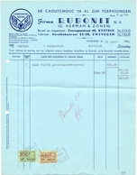 Factuur Facture - Caoutchouc - Firma Rubonit - Zwevegem - Kortrijk - 1956 - Belgique