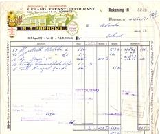 Factuur Facture - Groothandel Voeding In't Paradijs - Gerard Truant - Ducourant - Poperinge 1954 - Belgique