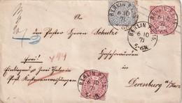 NORDDEUTSCHER BUND 1871   ENTIER POSTAL/GANZSACHE/POSTAL STATIONERY   LETTRE   DE BERLIN - Norddeutscher Postbezirk (Confederazione Germ. Del Nord)