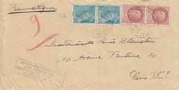 """LETTRE . PNEUMATIQUE. 1942. 4F PETAIN MERCURE. AVENUE D'ITALIE POUR IX°. CACHET """"LES PNEUMATIQUES PEUVENT ÊTRE REC...""""D - Liberation"""