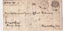 NORDDEUTSCHER BUND 1870    LETTRE   DE BUNZLAU - Norddeutscher Postbezirk