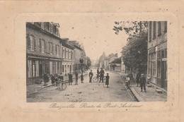 Cpa  Beuzeville Route De Pont Audemer. Animée. Circulée - Other Municipalities