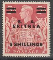 """Eritrea MNH , Francobollo Di Gran Bretagna Del 1937/42 Nuovo Con Soprastampa """" B.A. Eritrea """"  Cat  Sassone N 25 - Eritrea"""