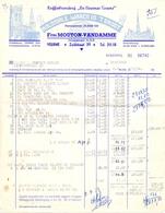 Factuur Facture - Koffiebranderij De Veurnse Torens - Firma Mouton- Vandamme - Veurne 1954 - Alimentaire