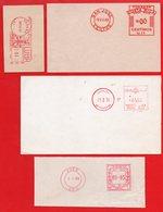Lot Of 4 Old SPECIMEN Meter Stamps. LIBAN_64. ADEN_64. COSTA RICA_48 & CUBA 47 - Indonesien