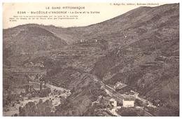 5296-STE CECILE D'ANDORGE -LA GARE ET LA VALLEE-CETTE VUE VA ETRE TRANSFORMEE PAR UN PONT ET LIGNE DE CHEMIN DE FER .... - Frankrijk