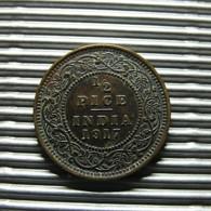 British India 1/2 Pice 1917 - Inde