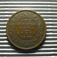 British India 1/4 Anna 1935 - Inde