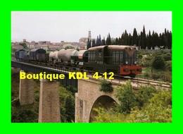 ART 093 - Train, Loco BB Coferna - Viaduc Du Rhounel - CAZOULS LES BEZIERS - CF Hérault - Treinen