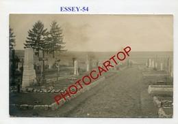 ESSEY-Cimetiere Militaire Allemand-CARTE PHOTO Allemande-Guerre 14-18-1WK-France-54-Militaria- - Autres Communes