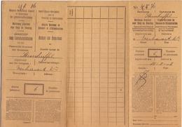 Spaans Nederlands Komiteit - Ravitaillement - Aankoop Levensmiddelen - Huisgezin Verhavert Steenhuffel 1918 - Non Classés
