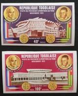 TOGO 1972 Visit Of Pres. Georges Pompidou Of France IMPERF - Togo (1960-...)