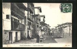 Postal Fuenterrabia, Calle De San Pedro - Espagne