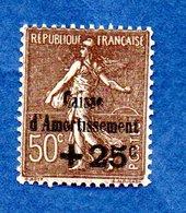 N 267 / + 25 C Sur 50 C Brun / Caisse D'amortissement  / NEUF ** / Côte 135 € - Francia