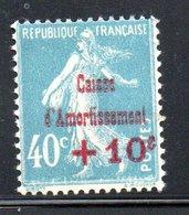 N 246 / + 10 C Sur 40 C Bleu / Caisse D'amortissement  / NEUF Avec Trace De Charnière / Côte 6 € - Nuevos