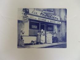 """Carte De Visite Café-hôtel-restaurant """"La Moulière 28, Rue Claude Monet Saint-Adresse-Le Havre (76). - Visiting Cards"""