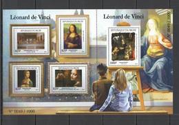 ST1980 2015 NIGER ART PAINTINGS FAMOUS PEOPLE LEONARDO DA VINCI 1SH MNH - Arts