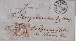 NORDDEUTSCHER BUND  LETTRE DE HANAU - Norddeutscher Postbezirk (Confederazione Germ. Del Nord)