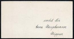 C6527 - Anna Hauptmann - Krippen Bei Bad Schandau - Litho Glückwunschkarte Visitenkarte - Visitenkarten