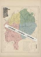 Département Du Tarn, Carte Extraite De L'Atlas National édité Par Fayard, Fin XIXème Siècle, Très Bon état - Geographical Maps