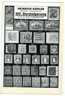 107. Köhler Briefmarken Auktion 1940 Bidtafeln - Catalogi Van Veilinghuizen