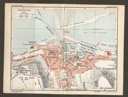 CARTE PLAN 1932 N° 364 - HONFLEUR PHARE De L'HOPITAL Ets Des BAINS ECLUSE CHANTIER De CONSTRUCTION - Cartes Topographiques