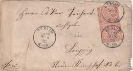NORDDEUTSCHER BUND  1870 LETTRE DE BERLIN - Norddeutscher Postbezirk