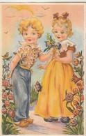 Rare Cpa Illustration Enfants - Contemporanea (a Partire Dal 1950)