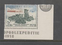 COB 1031 ** Neuf Sans Charnière MNH Bord De Feuille Chien De Traineau Cote 35€ - Belgien
