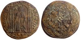 """FRANCE - Jeton De Compte Médiéval """"au Roi Debout"""" (Philippe VI [1328-1350] Ou Jean Le Bon [1350-1364]). - France"""